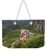 The Holy Monastery Of Rousanou Meteora Greece  Weekender Tote Bag