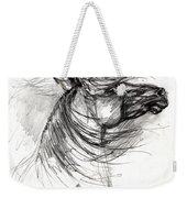 The Horse Sketch Weekender Tote Bag
