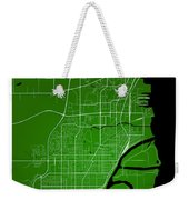 Thunder Bay Street Map - Thunder Bay Canada Road Map Art On Colo Weekender Tote Bag
