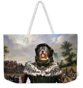 Tibetan Terrier Art Canvas Print Weekender Tote Bag