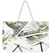 Time Is Money Concept Weekender Tote Bag by Les Cunliffe