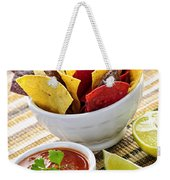 Tortilla Chips And Salsa Weekender Tote Bag