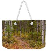 Trail In Golden Aspen Forest Weekender Tote Bag