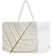 Transparent Leaf Weekender Tote Bag