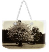 Tree With Large White Flowers Weekender Tote Bag
