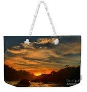 Trinidad Beach Sunset Weekender Tote Bag by Adam Jewell