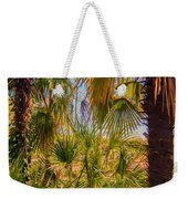 Tropical Forest Palm Trees In Sunlight Weekender Tote Bag