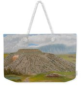 Tucumcari Mountain Reflections On Route 66 Weekender Tote Bag