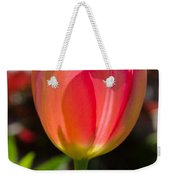 Tulip On The Green Background Weekender Tote Bag