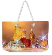 Tulsa City Skyline Around Downtown Streets Weekender Tote Bag