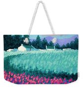 Turquoise Meadow Weekender Tote Bag