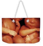 Twin Babies Weekender Tote Bag
