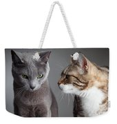 Two Cats Weekender Tote Bag