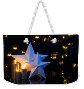 Two Stars With Gold Candles Weekender Tote Bag