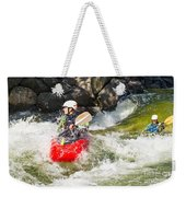 Two Whitewater Kayaks Weekender Tote Bag