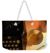 Typewriter And Whiskey Weekender Tote Bag