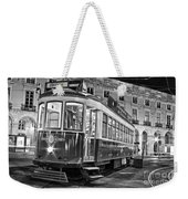 Typical Lisbon Tram In Commerce Square Weekender Tote Bag