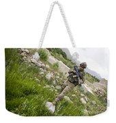 U.s. Army Specialist Walks Weekender Tote Bag