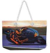 Valentino Rossi On Ducati Weekender Tote Bag by Paul Meijering