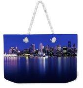 Vancouver Skyline At Night, British Weekender Tote Bag