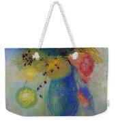 Vase Of Flowers Weekender Tote Bag by Odilon Redon