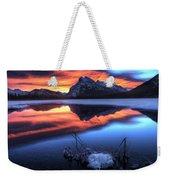 Vermillion Lakes Mount Rundle Weekender Tote Bag