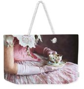 Victorian Woman Taking Tea Weekender Tote Bag
