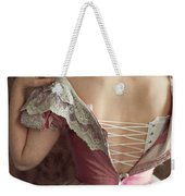 Victorian Woman Undressing Weekender Tote Bag
