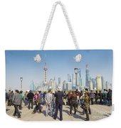 View Of Pudong In Shanghai China Weekender Tote Bag