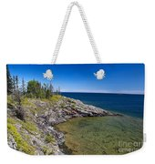 View Of Rock Harbor And Lake Superior Isle Royale National Park Weekender Tote Bag