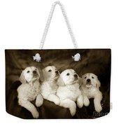Vintage Festive Puppies Weekender Tote Bag