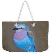 Violet-breasted Roller Bird Weekender Tote Bag