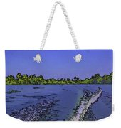 Wake From The Wash Of An Outboard Motor Weekender Tote Bag