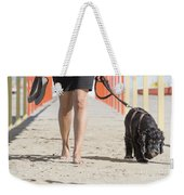 Walking Weekender Tote Bag