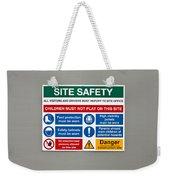Warning Sign Weekender Tote Bag by Tom Gowanlock