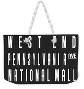 Washington City Subway Sign Weekender Tote Bag