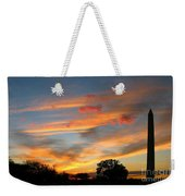 Evening Washington Monument Weekender Tote Bag