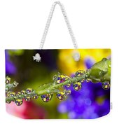 Water Drops On A Flower Stem Weekender Tote Bag