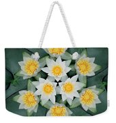 Waterlily Mandala Weekender Tote Bag