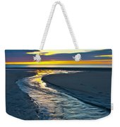 Wells Beach Maine Sunrise Weekender Tote Bag