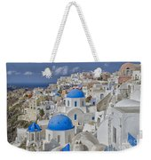 White Buildings With Steep Slope Weekender Tote Bag