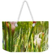 White-topped Pitcher Plant Weekender Tote Bag