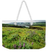 Wildflowers In A Field, Columbia River Weekender Tote Bag