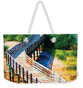 Winding Path In Blue Bloom Weekender Tote Bag