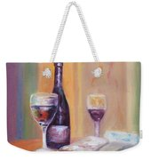 Wine And Blue Cheese Weekender Tote Bag