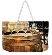 Wine  Glasses And Barrels Weekender Tote Bag