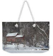 Winter Farm Weekender Tote Bag