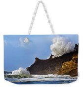 Winter Storm At Cape Kiwanda - Oregon Weekender Tote Bag