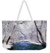 Winter White Weekender Tote Bag