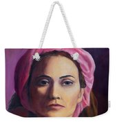 Woman In A Pink Turban Weekender Tote Bag